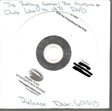 "ROLLING STONES ""From The Vault - The Marquee Club Live In 1971"" PROMO DVD"