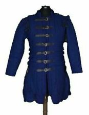 Blue Gambeson Thick padded coat Aketon Medieval Jacket vest Armor