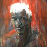 Blade Runner 20x14 Oil painting Roy Batty unframed  tears in rain Orion