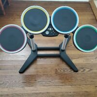 Rock Band Xbox 360 Wireless Drum Set COmtroller With Stand NO Pedal Harmonix