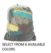 Mesh Laundry Bag- College- Dorm- Laundromat- EXTRA LARGE 24 x 36 ASSORTED COLOR.