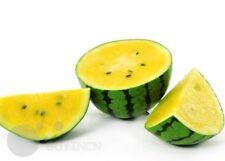 Hybrid Yellow Super sweet watermelon fruit seeds organic heirloom NON-GMO