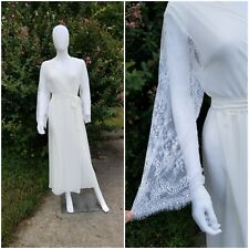 Flora Nikrooz Sheer Chiffon Showstopper Gown Robe W Lace Sleeve M