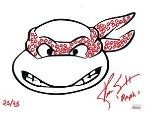 TMNT- Kenn Scott signed Raphael 8x10 photo JSA COA w/ Numbered Bandana Remarque