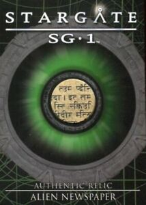 Stargate SG-1 Season Eight Alien Newspaper Relic Prop Card R12 #356/407