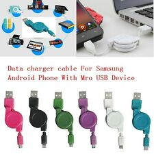 1pc 80cm Retractable Micro USB 2.0 Cable Data Sync Charger Cord For Android