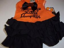 MOMMY'S LITTLE PUMPKIN blk Dog Dress Costume Halloween new pet Petco XXS XS cat