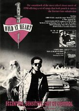 29/12/90Pgn13 Advert: 'wild At Heart' Soundtrack & Video Coming Soon 15x11