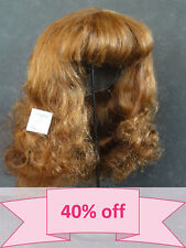 "DISCOUNT 40% - Human Hair DOLL WIG size 16"" (40.5 cm). Long red-brown hair."