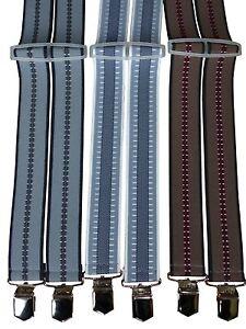NEU-H-Hosenträger mit 4 BREITCLIPS in vielen Farben und Überlängen-TOP