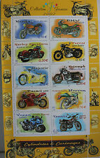 BLOC DE TIMBRES 2002 - CYLINDREES ET CARENAGES - MOTOS - NEUF **
