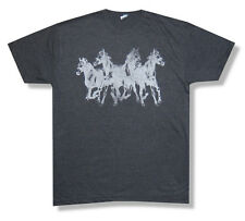 Mumford & Sons Horses Gentlemen Of Road Tour Heather Grey T Shirt New Official