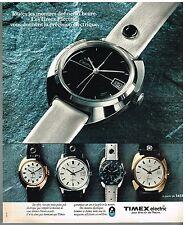 Publicité Advertising 1976 Les Montres Timex Electric