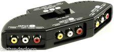 Compacto de 3 vías, Audio Y Video Rca Phono Selector