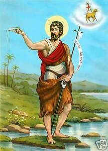Catholic Print Picture ST. JOHN the BAPTIST as an Adult - ready to be framed