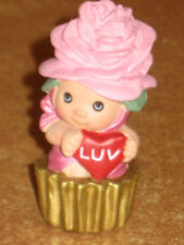 Hallmark Merry Miniatures Pink Cupcake Valentines Day Cup Cake Tiny Collectible