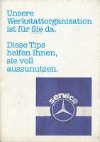 Mercedes Werkstattorganisation Prospekt 1980 10/80 brochure prospectus broschyr