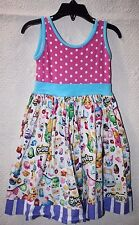 Kpea Shopkins Dress Little Girls Pink Polka Dot Size 5T