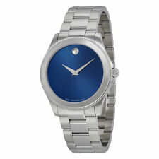 MOVADO Junior Sport 0606116 Blue Dial Stainless Steel Men's Watch 5282