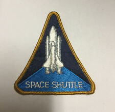VINTAGE RARE ORIGINAL Space Shuttle Big SEW ON EMBROIDERY CLOTH PATCH -ITEM#195