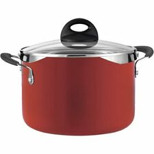 Tramontina Style 6-Quart Lock and Drain Pasta Pot, Red En W