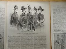 14 Victorian Illustrated Fashion Articles (1880s) : hats, mantles, underclothing
