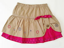 Baby Girl - Mamas & Papas - Brown - Pink - Embroidered Skirt - Age 9-12 Months