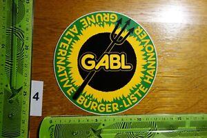 Alter Aufkleber Politik Partei Europa GABL Grüne Alternative Bürger-Liste (FC)