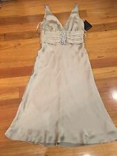 Monica Black Label Dress Size 10 New Bnwt Rrp $199 Gold