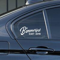 Bimmerfest bmw bimmer car vinyl sticker window windshield decal