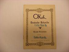 Original Okeh Phonograph Record Catalog - January, 1922 Deutsche