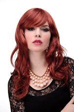 Prettyland Lang-haar Mittel-scheitel Welle Lockenperücke Rot-braun Orange C800 Feine Verarbeitung Perücken & Haarteile Haarpflege