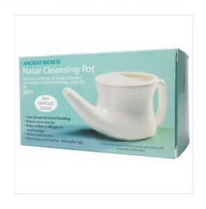 ✅ANCIENT SECRETS Nasal Cleansing Pot  Neti Pot - Ceramic