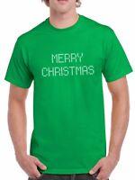 Merry Christmas T-Shirt Tee T Shirt X-mas Gift Funny Present Short Sleeve