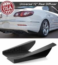"12"" Gen 3 Rear Bumper Lip Winglet Apron Splitter Diffuser Canard For VW Porsch"