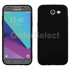 HOT! Slim Protector Candy Glossy Phone Case for Samsung Galaxy J3 Emerge Black