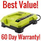 RYOBI OP401 40 VOLT LITHIUM-ION BATTERY CHARGER 40V REPLACEMENT LAWNMOWER OP401A
