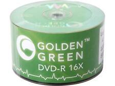 500 PCs Golden Green DVD-R DVDR 16X 4.7GB Logo Top Record Disc Blank Media