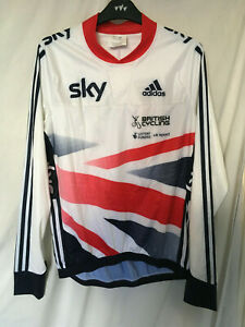 NEW Medium adidas SKY Cycling bike shirt jersey mens team GB issue long sleeve