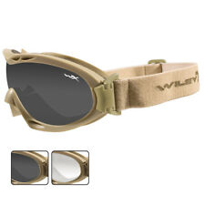 Wiley X Nerve Goggles Ballistic 2 Lenses Prescription Airsoft Eyewear Tan Frame