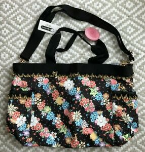 NWT LeSportsac Benefit Temptress Tote Bag Baubles and Blooms P432 rare