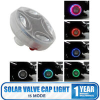 Colorful LED Solar Car Wheel Tire Air Valve Cap Light Flash Decor Lamp Bulb