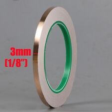 "2X 23feet/20M Conductive Shielding Pure Copper Tapes 3mm 1/8"""