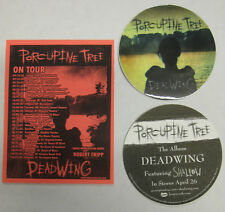 PORCUPINE TREE Deadwing 2005 US Tour CONCERT Flyer + Promo STICKER Steven Wilson