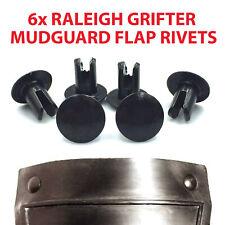 RALEIGH GRIFTER BOXER MUDGUARD FLAP RIVETS (6x NEW)