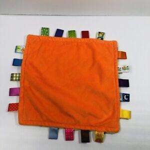 Taggies Lovey Security Blanket Green Multicolor Polkadot Orange