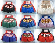 Muay Thai Boxing Shorts Satin Grappling Cage Fighting Pants Mens Wear Gym Trunks