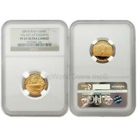 Italy 2001 Palace of Caserta 50,000 Lire Gold NGC PF69 ULTRA CAMEO