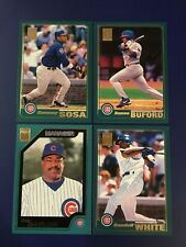 2001 Topps #330 #442 #465 #688 SAMMY SOSA, BAYLOR, BUFORD, WHITE Cubs Lot 4 LOOK