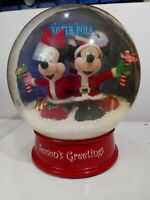 "Disney Mickey Mouse MusicLights Air Huge 13"" Tabletop Christmas Snowglobe"